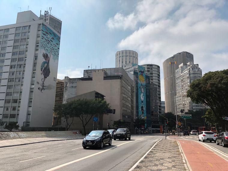 So sieht die Innenstadt von São Paulo aus: Viele Hochhäuser...
