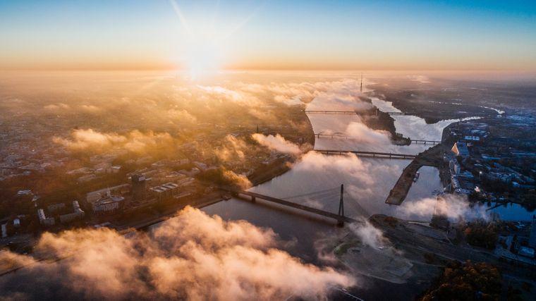 Riga von oben – aber in die Stadt eintauchen lohnt sich!