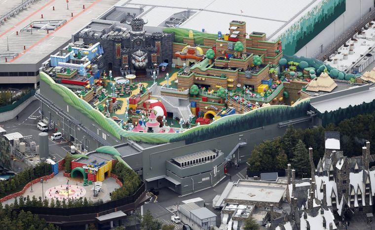 So sieht der Nintendo-Themenpark von oben aus.