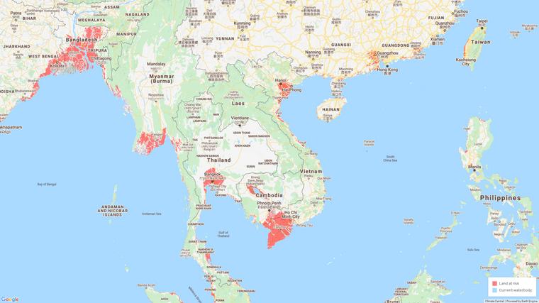Der Süden Vietnams, die Hauptstadtregion von Thailand und etliche andere Feuchtgebiete sind vom Klimawandel bedroht. Bis 2100 könnten sie ganz verschwinden.
