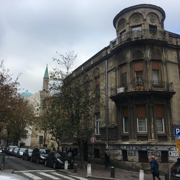 In Belgrads Straßen.