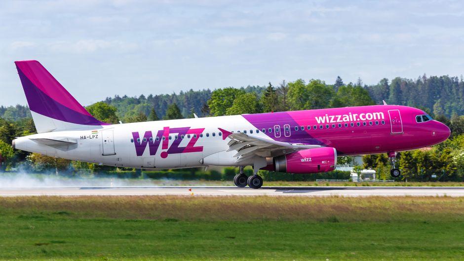 Flugzeug von Wizz Air.