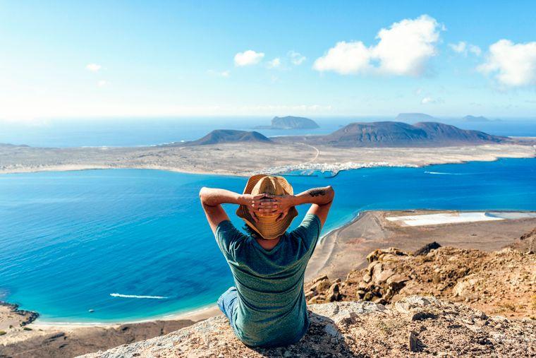 Las Islas Canarias de La Graciosa se pueden ver a pie con más de 40 vistas.