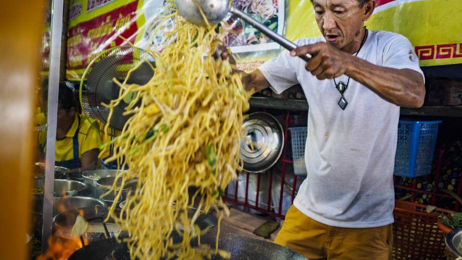 Street-Food-Stand in Bangkok.