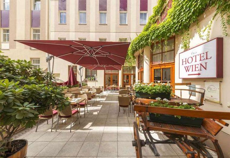 Frühstücksterasse Hotel Austria Wien