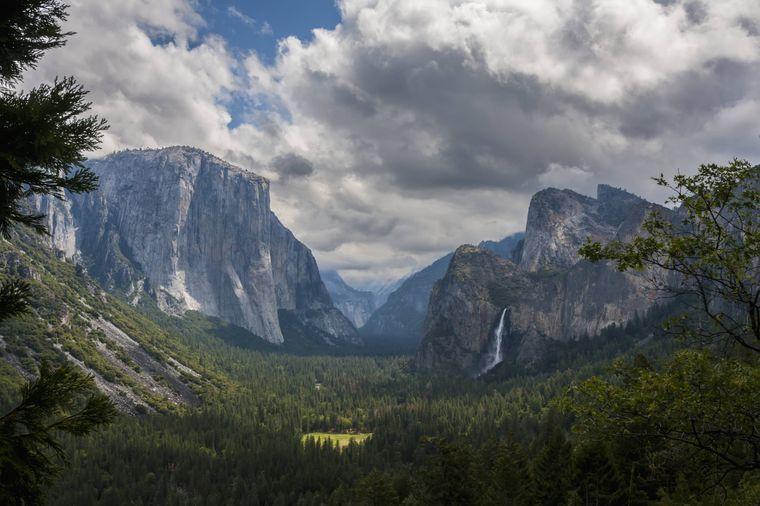 Die Bridalveil Falls im Yosemite-Nationalpark.