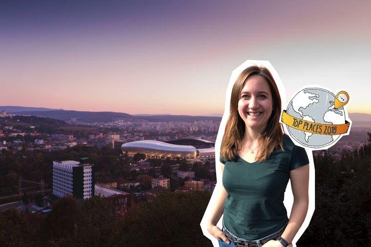 Blick auf Cluj-Napoca (Rumänien) und die Cluj Arena, reisereporter Top Place 2018.