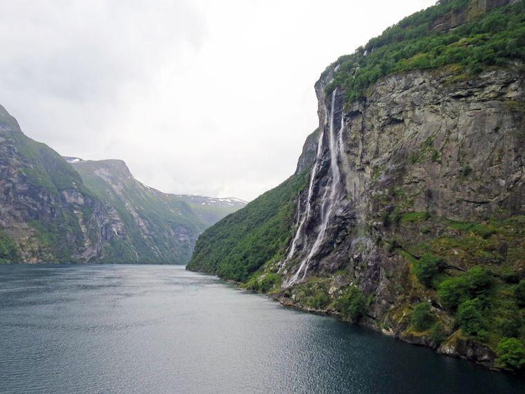 Geirangerfjord in Norwegen.