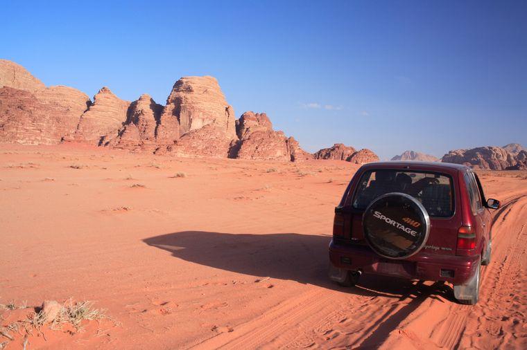 """Die Wüste Wadi Rum diente für """"Rogue One: A Star Wars Story"""" als Kulisse für die Felsenlandschaft um die Stadt Jedha."""