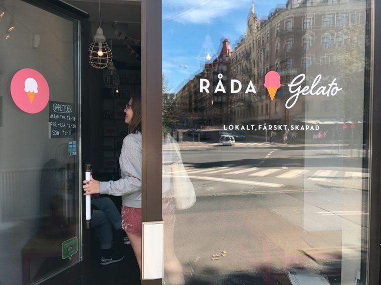Eiscafé Råda Gelato in Göteborg, Schweden.