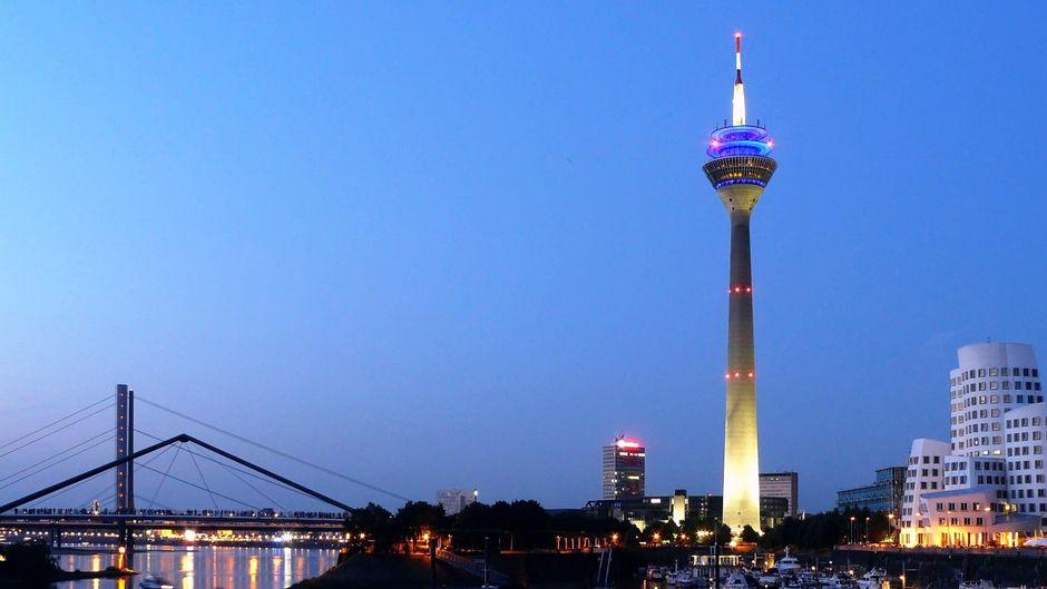 Skyline in Düsseldorf.