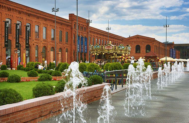 Kultur- und Einkaufszentrum Manufaktura in Łódź