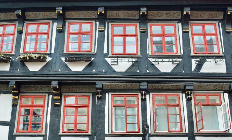 Altes Fachwerkhaus in der Göttinger Altstadt..