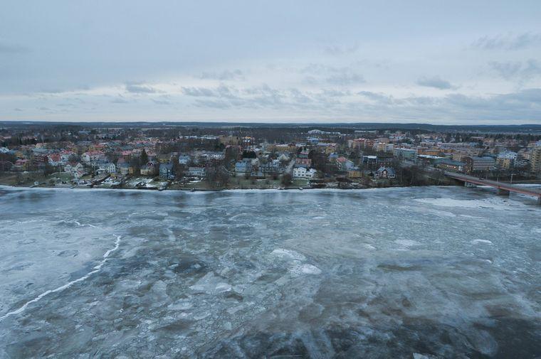 Die Stadt Umeå an der Ume ist eine alte Seefahrerstadt.