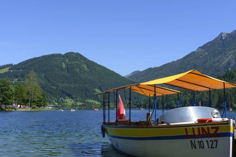Eine Bootstour über den Lunzer See ist besonders schön.