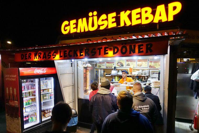 Gemüse-Kebab in Berlin.