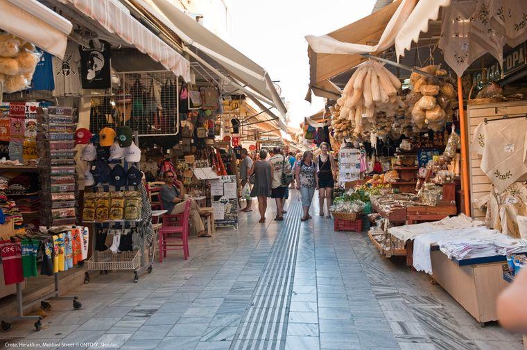 Die Meidani-Straße in Heraklion.