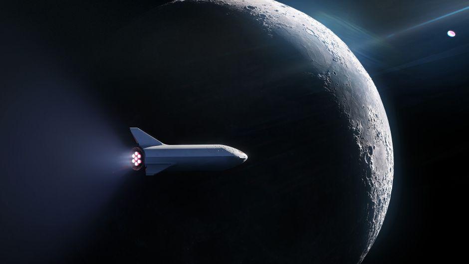 Eine Woche im All, Mondumrundung inklusive – das plant Space X.