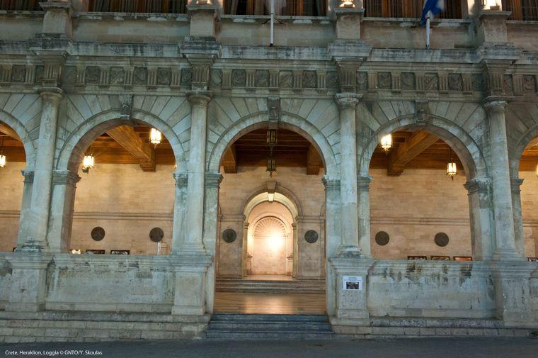 Die venezianische Loggia in Heraklion.