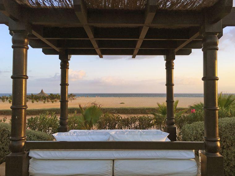 Ein Bett am Strand der Kapverden