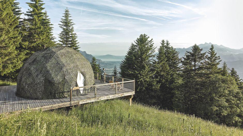 Stylishe Unterkunft in der Schweiz: Die Whitepods.