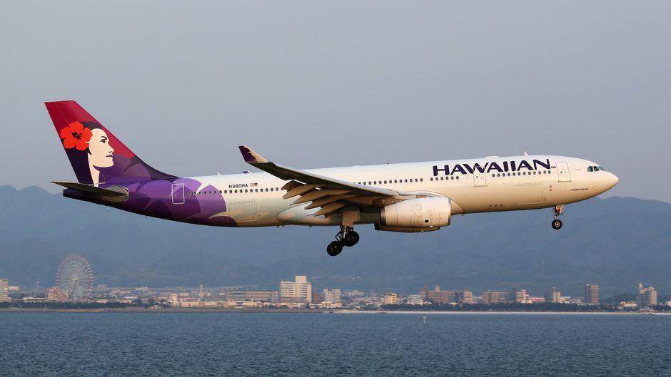 Flugzeug von Hawaiian Airlines.