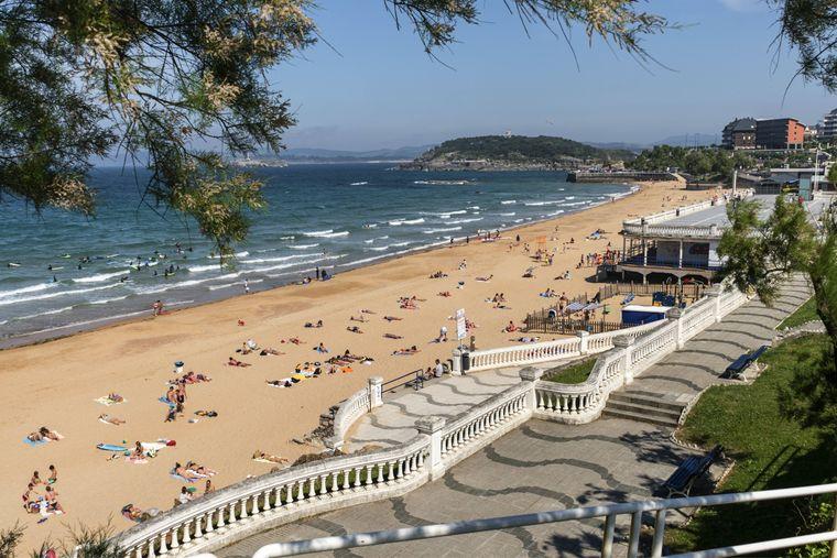 In Santander gibt es herrliche Sandstrände ganz in der Nähe des Zentrums.
