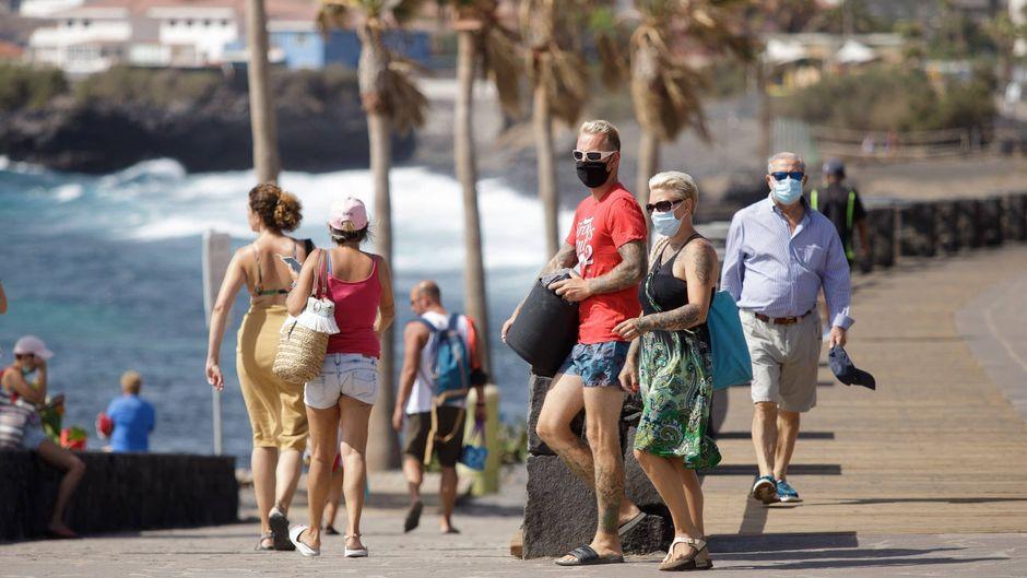 Maskenpflicht auf Teneriffa.
