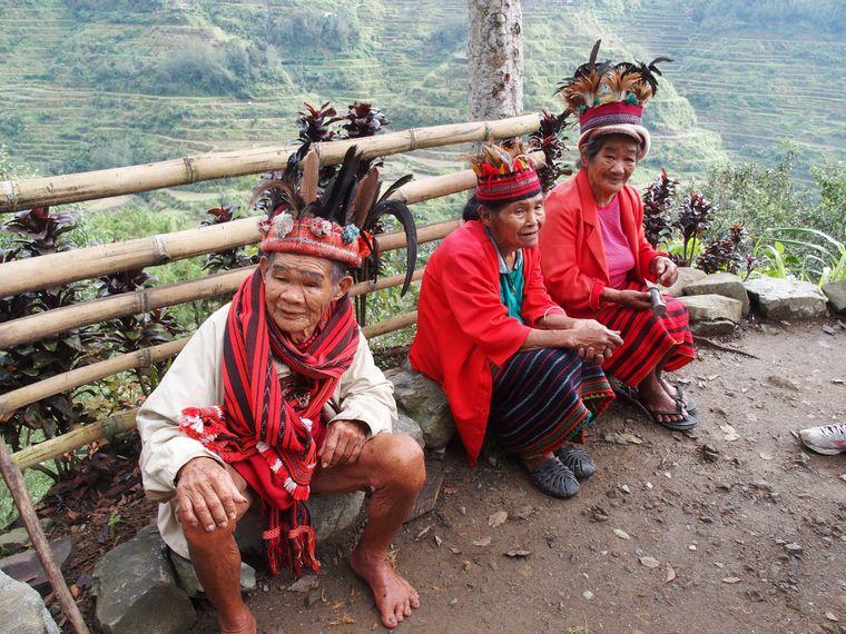 Angehörige des Bergvolks der Ifugao.