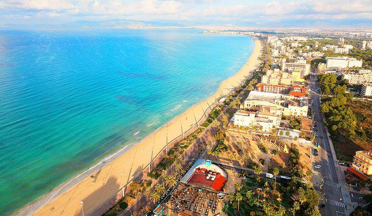 Der Platja de Palma befindet sich im Süden Mallorcas.