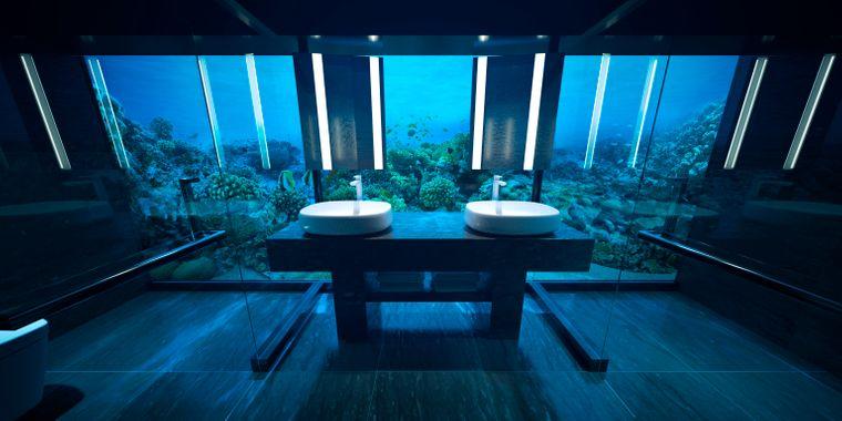 So soll das Badezimmer der Unterwasser-Luxus-Suite aussehen.