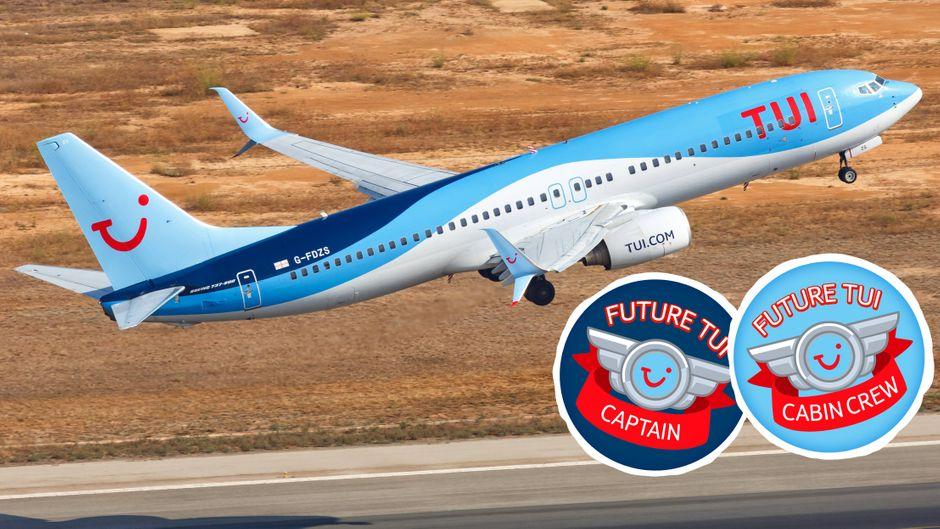 """Der Vorwurf: Auf einem Tui-Flug wurden Aufkleber mit den Aufdrucken """"Future Captain"""" und """"Future Cabin Crew"""" geschlechtsspezifisch verteilt."""