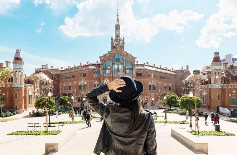 Ein Ort der Ruhe mitten in der Großstadt: Die Recinte Modernista de Sant Pau in Barcelona.