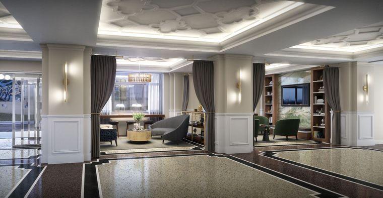 Lobby im Hotel Elkhart.