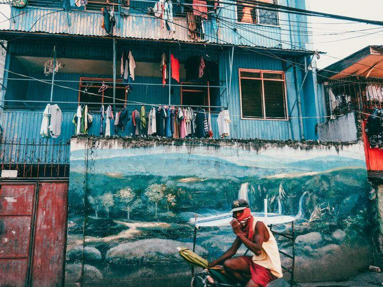 In Cebu City sahen Lena und Oleg auch die Schattenseiten der Philippinen wie zum Beispiel die Armut der Menschen dort.