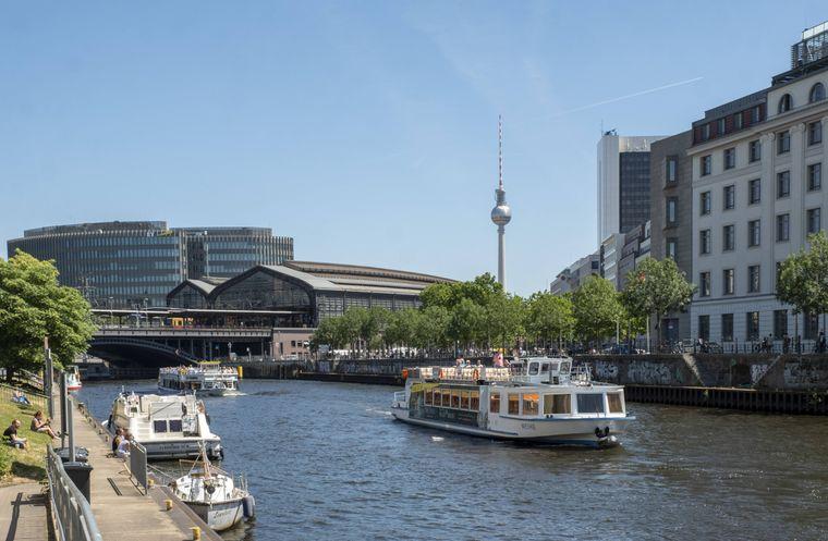 Blick auf die Spree in Berlin, einem der Hotspots im Jahr 2019.