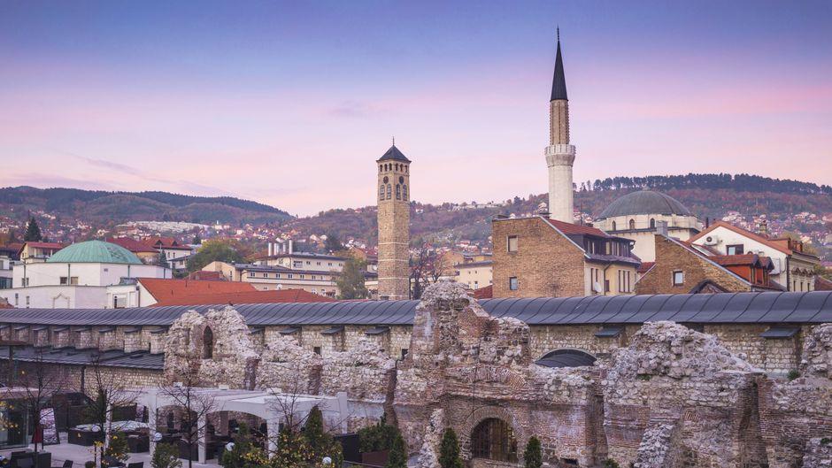 Blick auf die Altstadt von Sarajevo.