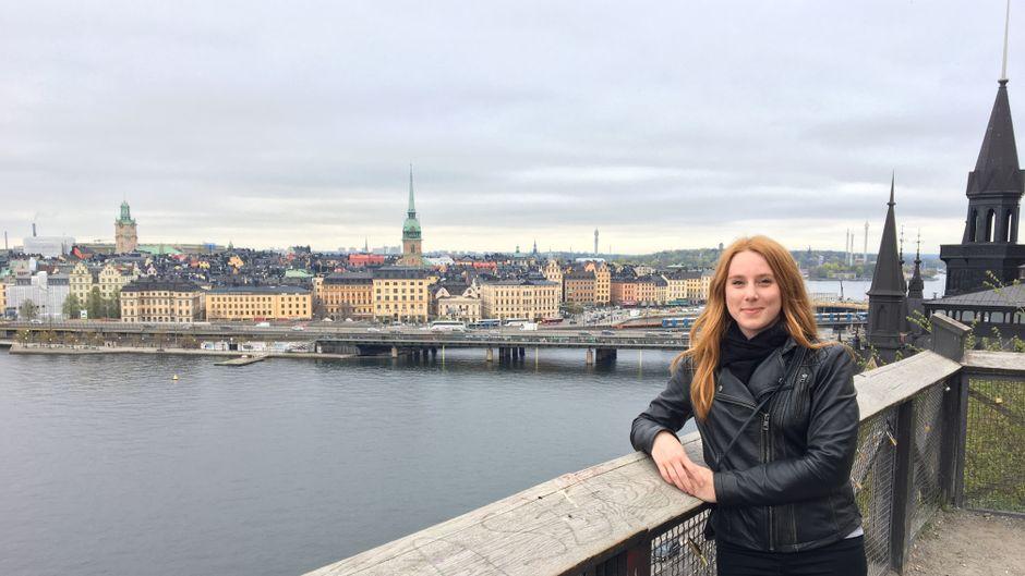 Blick vom Monteliusvägen über die Altstadt von Stockholm
