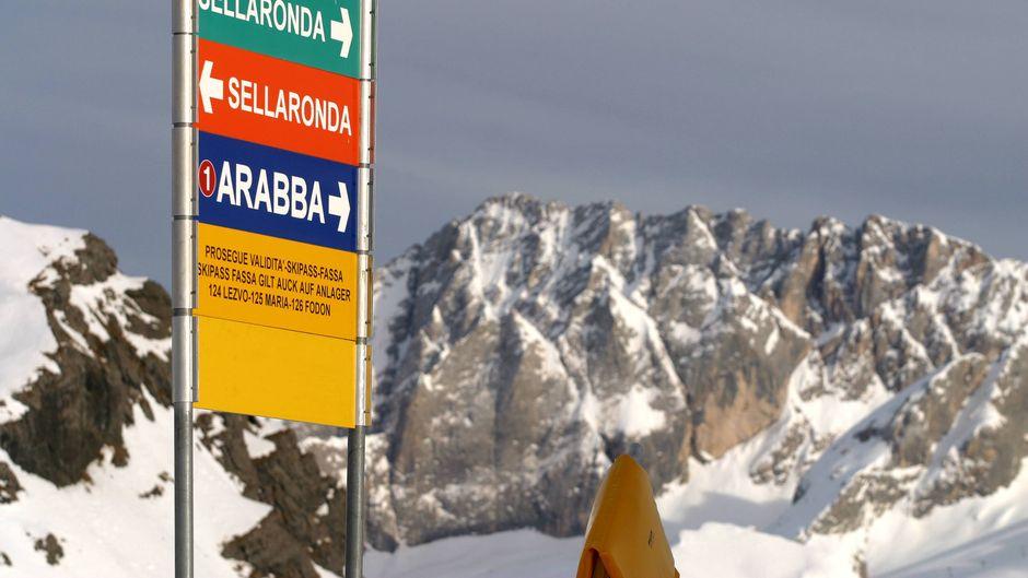 Hier geht's lang nach Arabba! Wir geben dir Tipps zur Anreise.