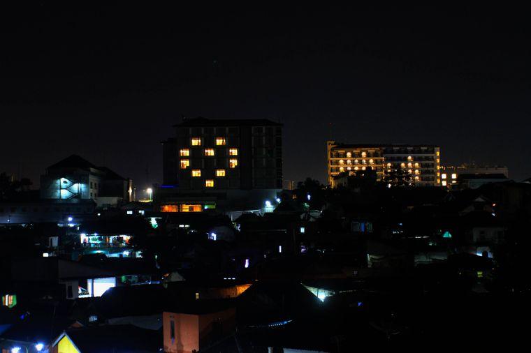 Auch Hotels in Yogiakarta, Indonesien, zeigen sich solidarisch.
