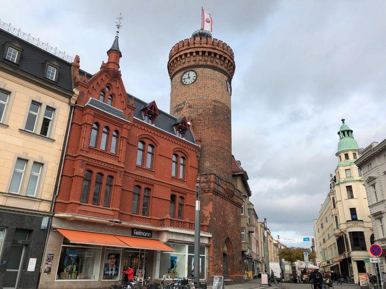 Das Wahrzeichen der Stadt Cottbus: der Spremberger Turm.