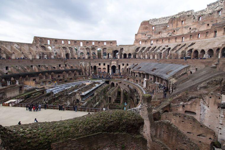 Das Amphitheater war das drittgrößte im römischen Reich.