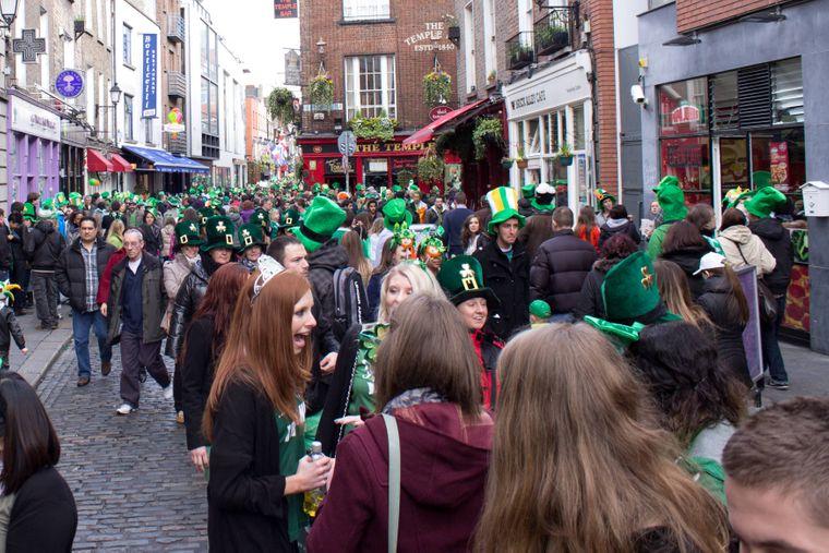 Am St. Patrick's Day herrscht in Dublin Ausnahmezustand.