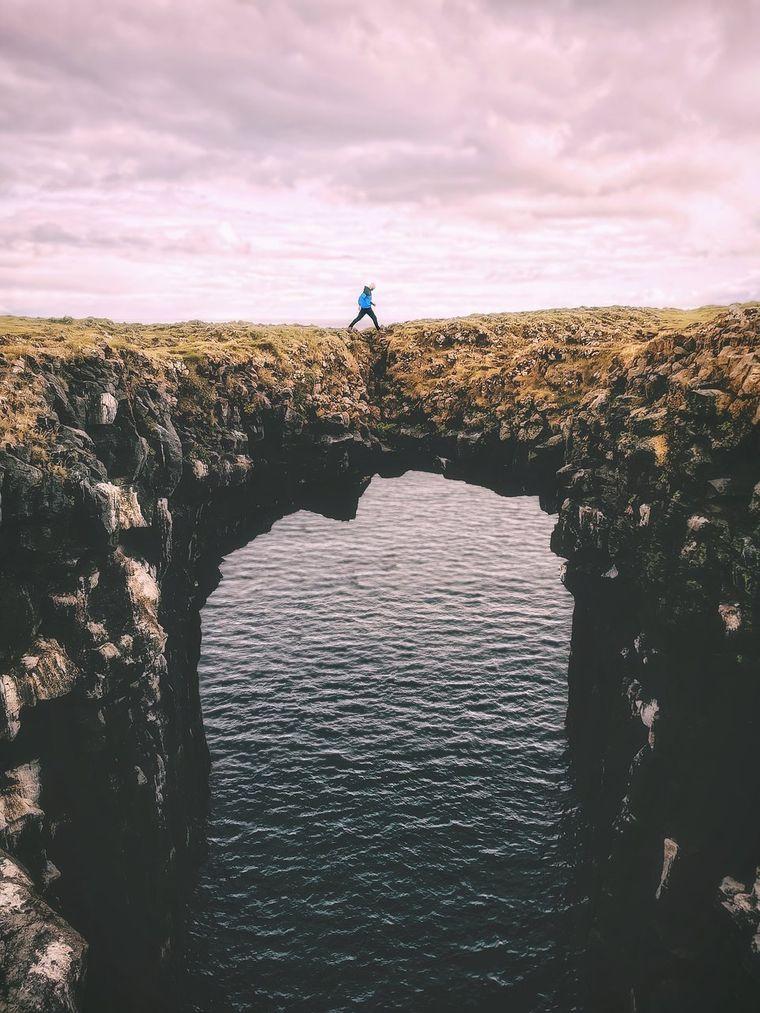 Arnarstapi-Brücke in Island.