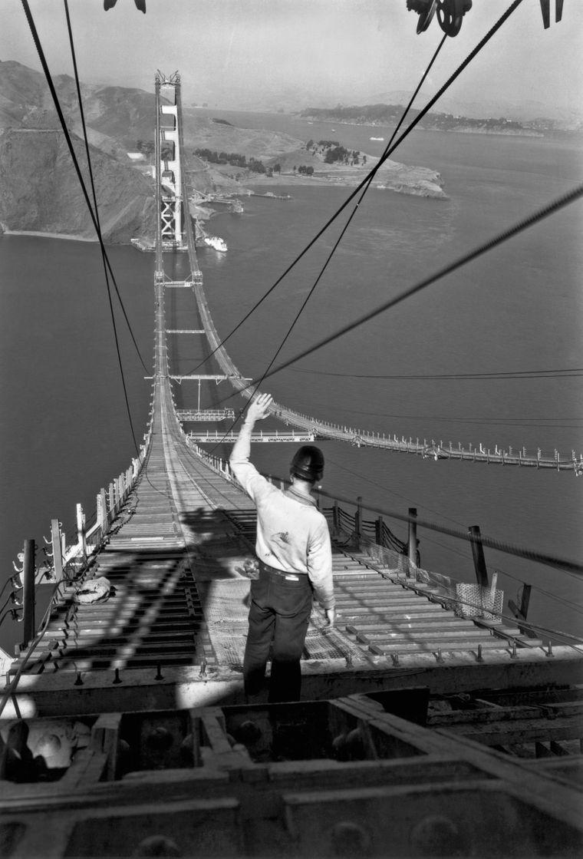 So sah die Golden Gate Bridge aus, als sie gebaut wurde.
