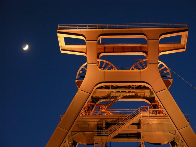 """Die Zeche Zollverein ist bekannt als die """"schönste Zeche der Welt""""."""
