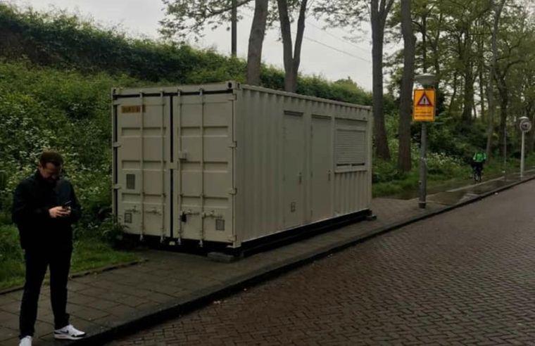 Diesen Schiffscontainer hatte ein Vermieter in Amsterdam auf Airbnb angeboten.