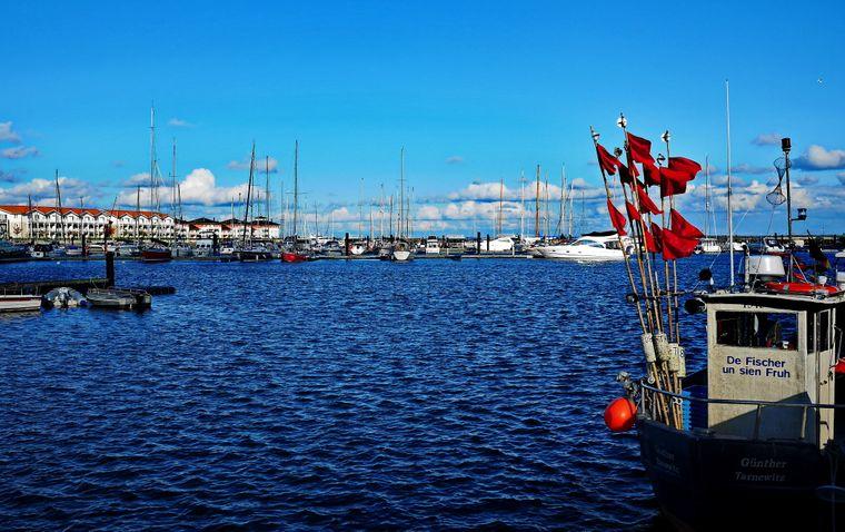 Die Weiße Wiek ist eine Marina mit echtem Hafenflair.