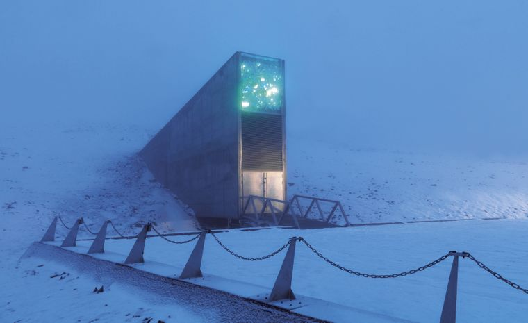 Saatbank-Tresor auf Spitzbergen.