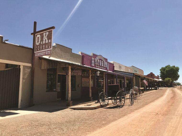 Tombstone im Süden von Arizona ist eines der bekanntesten Ghost Towns der USA.